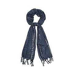 The Collection - Navy sparkle scarf