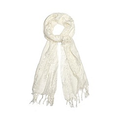 The Collection - Ivory sparkle scarf
