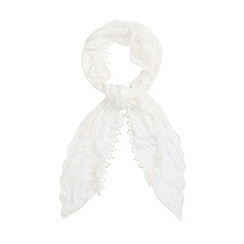 Red Herring - Cream sequin lace scarf