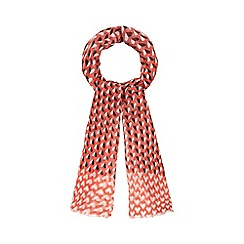 Red Herring - Dark peach heart print scarf