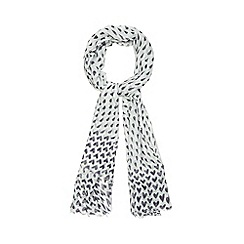 Red Herring - Aqua heart print scarf