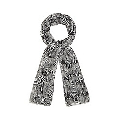 Red Herring - White zebra print scarf