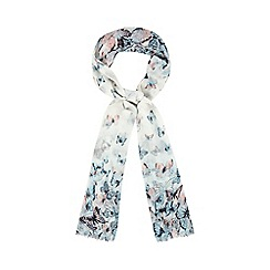 Red Herring - Multi-coloured butterfly print scarf