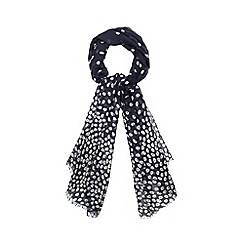 Red Herring - Navy daisy print scarf