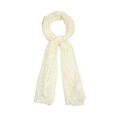 Red Herring - Cream sparkle scarf