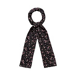 Red Herring - Black floral print scarf