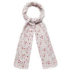 Red Herring - White floral print scarf