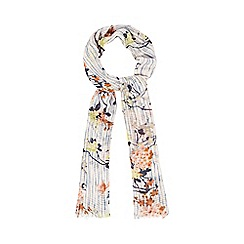 Mantaray - Multi-coloured rose blossom print scarf