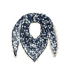 Mantaray - Blue floral print scarf