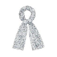 Mantaray - White bicycle print scarf