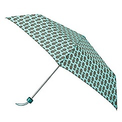 Isotoner - Turquoise supermini pineapple print umbrella