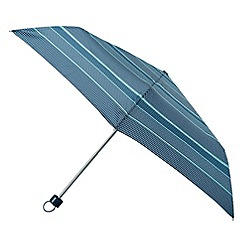 Isotoner - Navy tiled stripe supermini umbrella