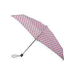 Isotoner - Pink dots supermini umbrella