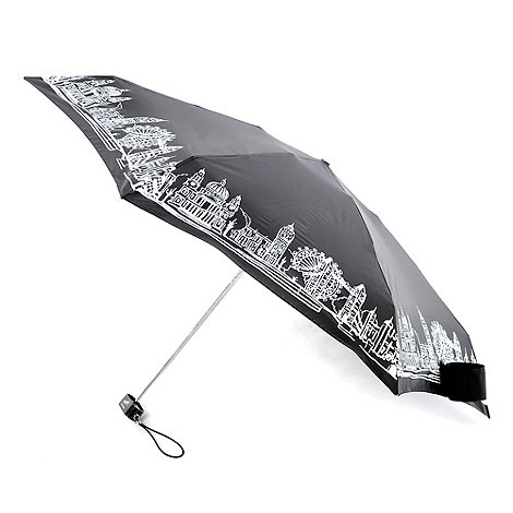 Totes - Black london skyline umbrella