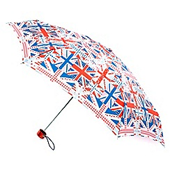 Totes - Red 'union jack' flag umbrella