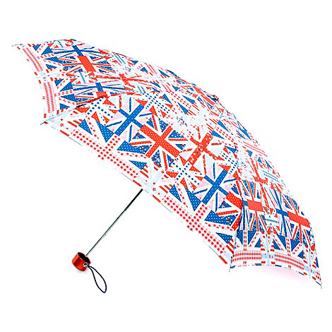 Totes - Red +union jack+ flag umbrella