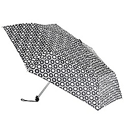 Totes - Cream hoop patterned umbrella