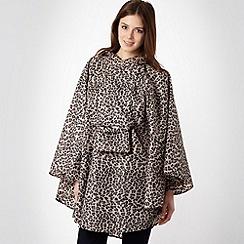 Totes - Beige leopard print rain poncho