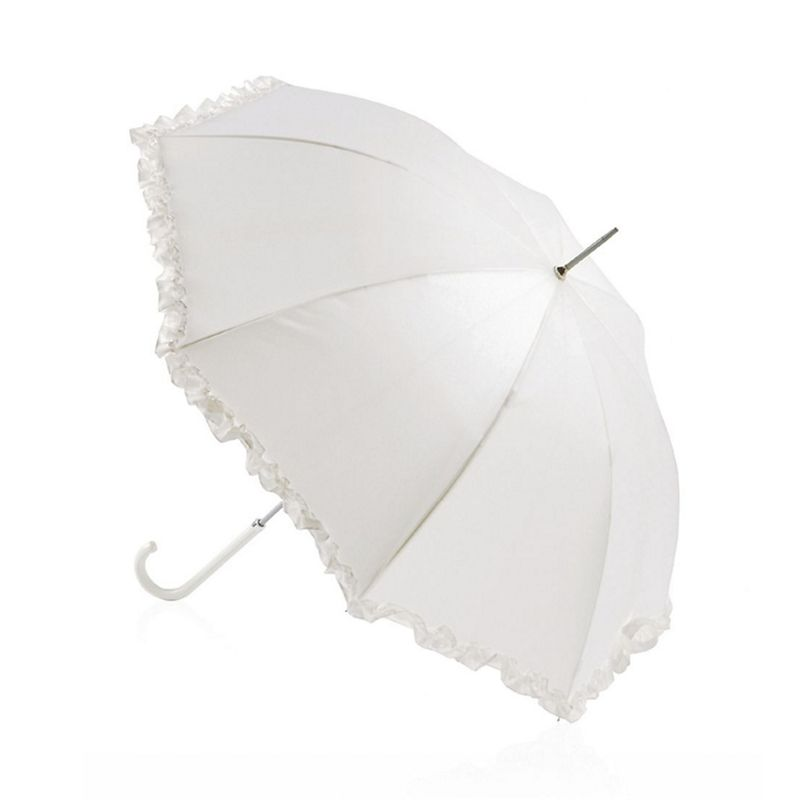 Totes Pearlised ivory walker umbrella with frill