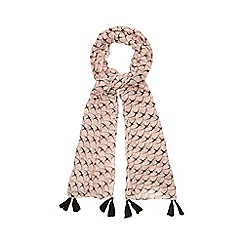 Nine by Savannah Miller - Pink bird tassel scarf