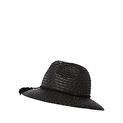 Nine by Savannah Miller - Black straw tassel fedora