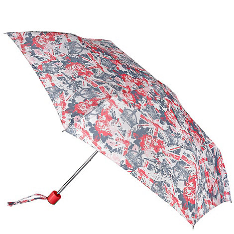 Red Herring - Navy and red +union jack+ print umbrella