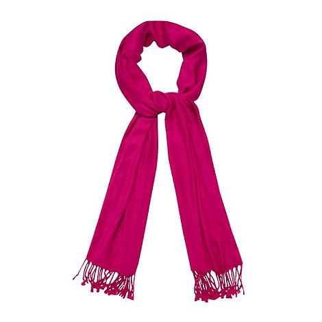 J by Jasper Conran - Bright pink fringe pashminetta
