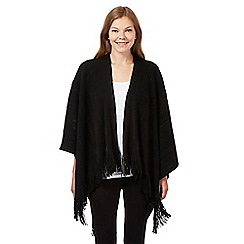 The Collection - Black knitted wrap