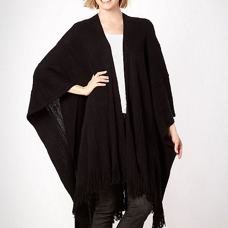 The Collection - Black long knitted wrap