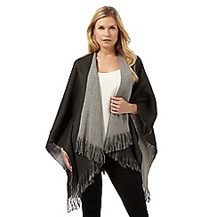 The Collection - Grey and black reversible wrap