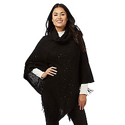 The Collection - Black sequin poncho