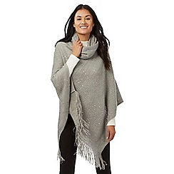 The Collection - Grey sequin poncho