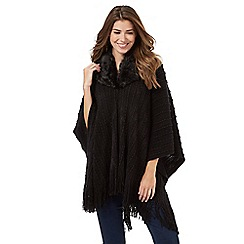 The Collection - Black faux fur collar wrap