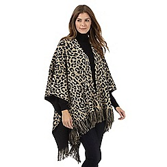 The Collection - Light brown leopard print wrap