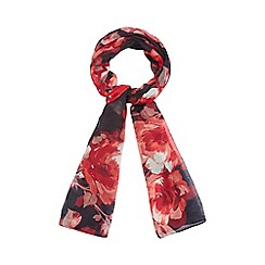 The Collection - Multi-coloured floral print scarf