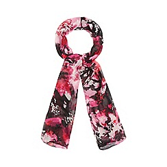 The Collection - Pink floral print scarf