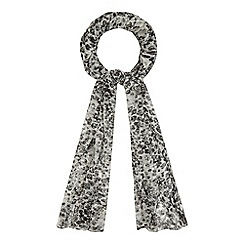 The Collection - Grey snakeskin-effect print scarf
