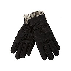 The Collection - Black quilted gloves