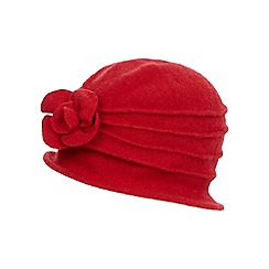 The Collection - Red wool cloche hat
