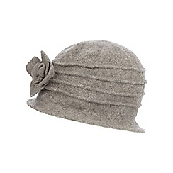 The Collection - Grey wool cloche hat