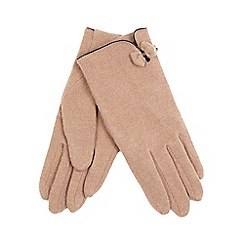 The Collection - Camel bow and trim wool rich blend gloves