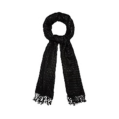 The Collection - Black sparkle pleated scarf