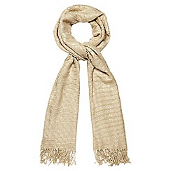 The Collection - Gold sparkle pleated scarf