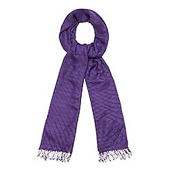The Collection - Purple pleated scarf