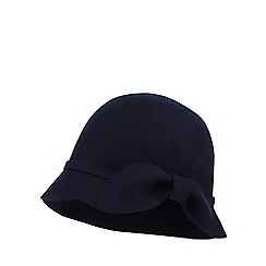 The Collection - Navy wool cloche hat