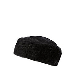 The Collection - Black faux fur cossack hat