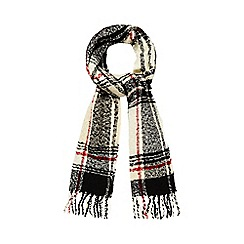 The Collection - Off white boucle checked scarf