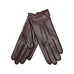 RJR.John Rocha - Dark red leather gloves