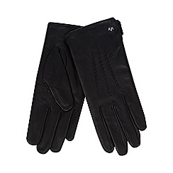 RJR.John Rocha - Black leather scalloped gloves