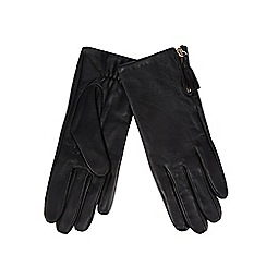RJR.John Rocha - Black leather tassel gloves
